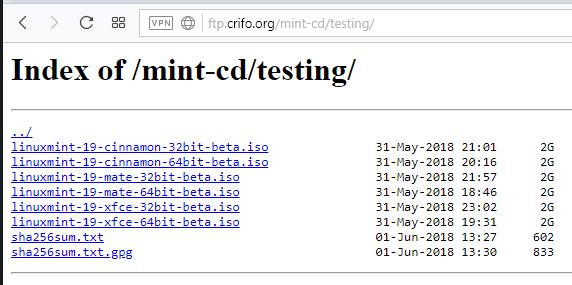 На зеркала загружены образы Linux Mint 19 BETA